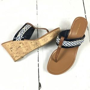 Tommy Hilfiger Sandal Wedge Thong 10 Cork